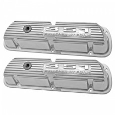 """351"" ""Powered By Ford"" Polished Aluminum Valve Cover - For 351W engine"