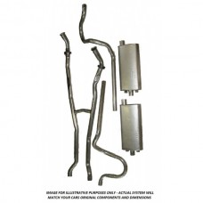 "1961 Ford Thunderbird Exhaust System, 2"" Pipe, Without Resonators, 61 Th"