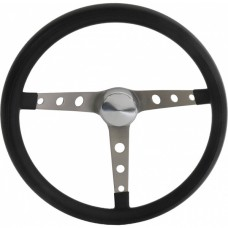 "15"" Grant Classic 3 Spoke Steering Wheel, Black Grip"