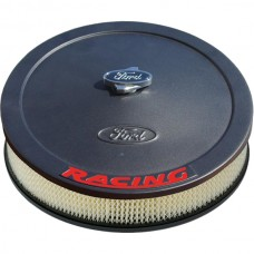 1955-1979 Ford Thunderbird Black Crinkle Engine Air Cleaner with Red Emblem