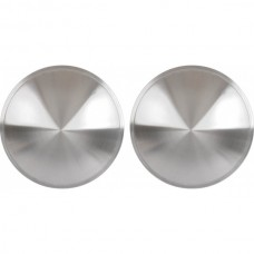 "1955-1979 Ford Thunderbird Wheel Cover Set Of Two, Full 'Moon' Style, Brushed Aluminum Look Stainless, For 13"" Steel Wheels"