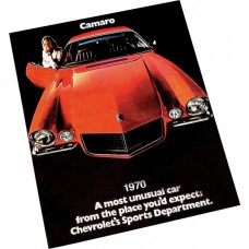 Camaro Color Sales Brochure, 1970