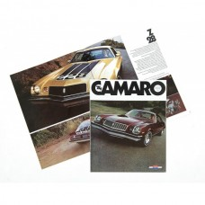 Camaro Color Sales Brochure, 1974