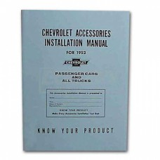 1952 Chevy Accessories Installation Manual