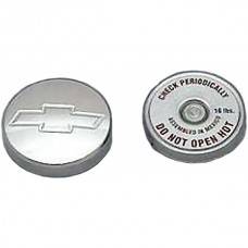 1949-1954 Chevy Radiator Cap, Aluminum, With Bowtie Logo, With Small Block Conversion