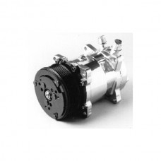 1949-1954 Chevy Air Conditioning Compressor, Chrome, Sanden 508, 134A, Serpentine System