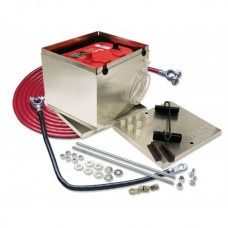 1949-1952 Chevy Single Trunk Mount Battery Relocator Kit, Aluminum Box With 2 Gauge Battery Kit, Taylor 48201