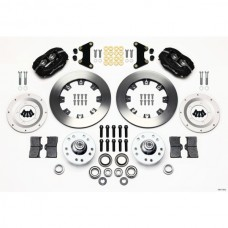 1949-1954  Wilwood Forged Dynalite Big Brake Front Brake Kit, Plain Rotors, Black Calipers