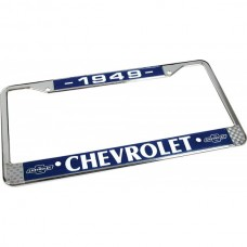 1949 Chevy License Plate Frame, With Chevy Logo
