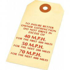 1949-1954 Chevy MPH Breaking-In Instructions Tag
