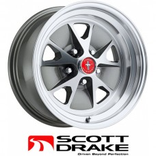 "15"" x 7"" Legendary Styled Alloy Wheel, Machined Finish"