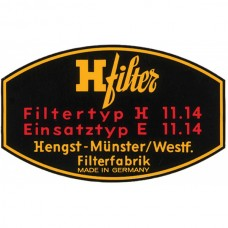 1955-1969 Porsche® H Filter Decal Oil Filter