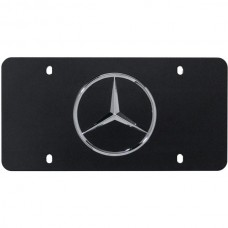 1954-2014 Mercedes® OEM License Plate Black With Chrome Star